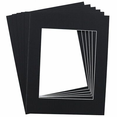 15-Pack Black 11 x 14 Inch Picture Matted Frame Boards for 8