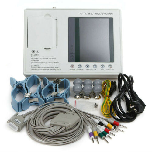 USA Digital 3-Channel 12-lead Electrocardiograph ECG machine with interpretation
