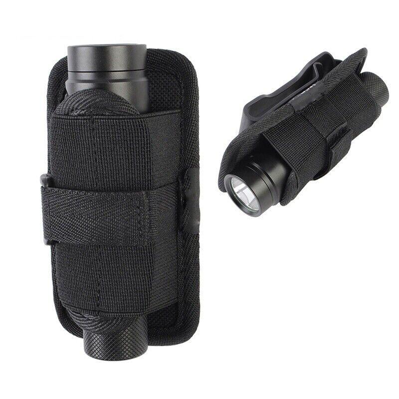 UK 15cm LED Flashlight Torch Lamp Nylon Holster Holder Belt Bag Case Pouch
