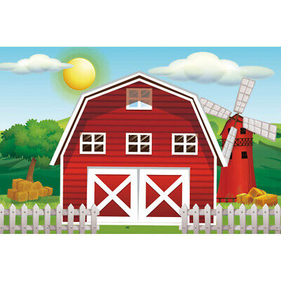 Farm theme photography backdrops Red Barn Barnyard house kids birthday 7x5ft](Red Birthday Theme)