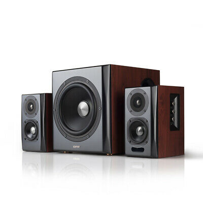 Edifier S350DB 2.1 Speaker System with Bluetooth aptX - Brown