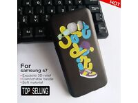 'Just Do It' Pattern Embossed Hard Silicone Case for Samsung Galaxy S7