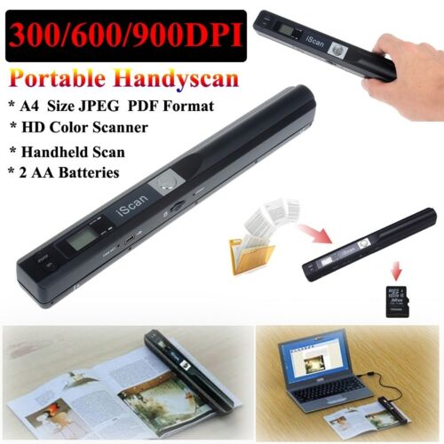 iScan Wireless HD 900DPI Portable HandHeld Mini Scanner Document Color JPG//PDF