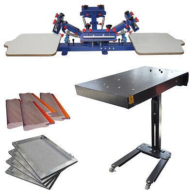 4 Color Screen Printing Machine Kit Bundle Flash Dryer Package Screen Press Usa