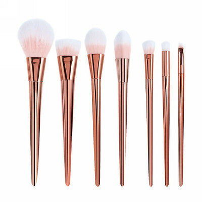 7pcs Soft Makeup Brushes Set Powder Foundation Eyeshadow Eyeliner Lip Brush Tool