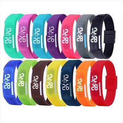 Multifunktions Led Sport Elektronische Digitale Armbanduhr Für Junge Mädchen ox