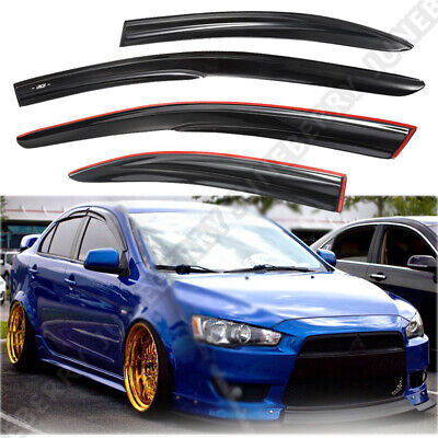 For 05-14 Tacoma Double Cab 4Pc Tape On Window Vent Visor 4Dr With 3M Tape