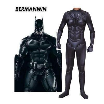 Adult Kids Batman Cosplay Bruce Wayne Costume Jumpsuit Zentai Superhero Outfit