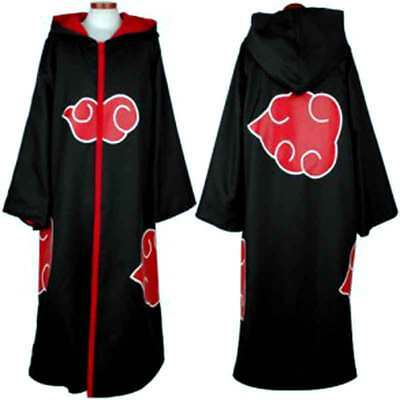 Anime Naruto HOODED CLOAK Cosplay Costume Akatsuki Taka/Hebi Hawk Uniform Sasuke](Sasuke Costumes)