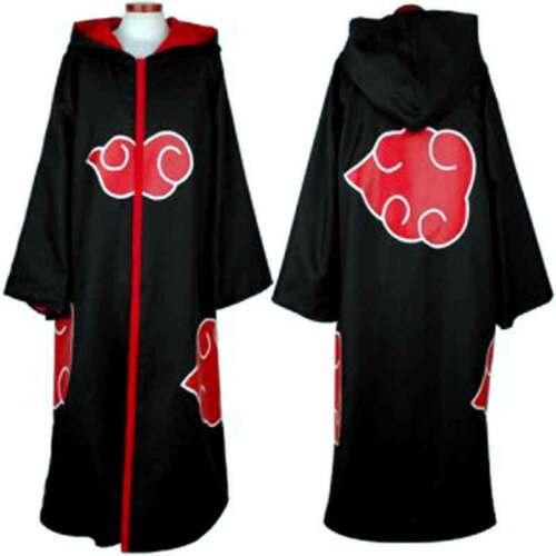 Anime Hokage HOODED CLOAK Cosplay Costume Akatsuki Taka/Hebi Hawk Uniform Sasuke