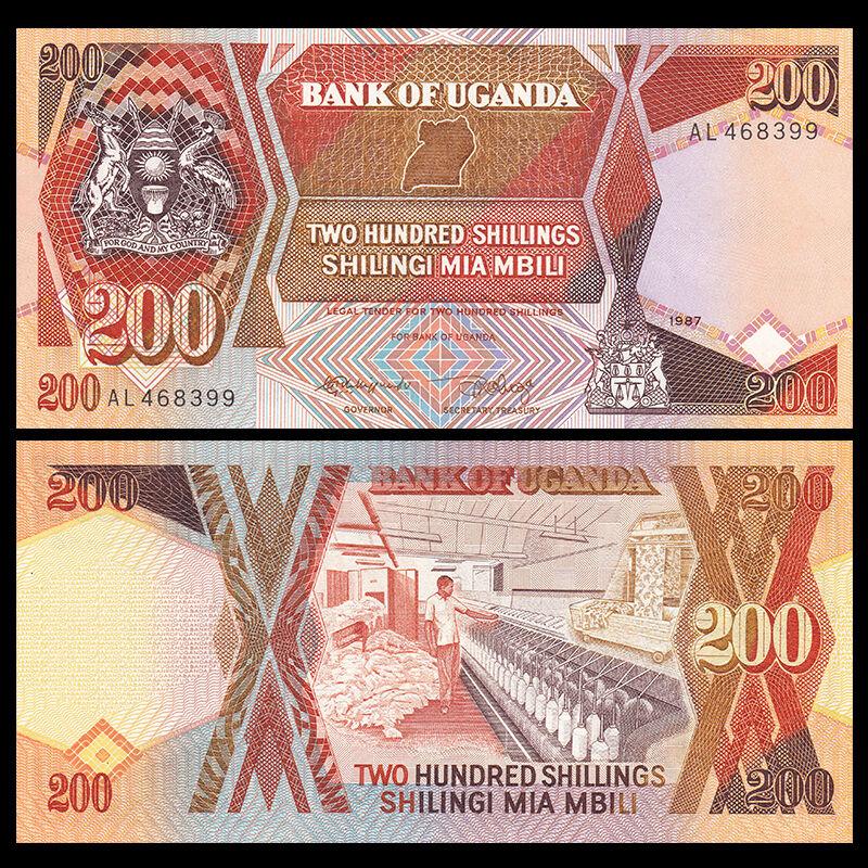 UGANDA 200 SHILLINGS 1996 P 32 UNC