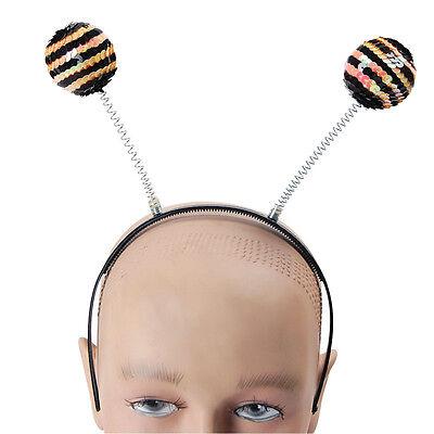 # Hummel Schwarz und Gelb Paillette Warnung Bopper-Hut auf Stirnband - Gelb Und Schwarz Kleid Kostüm