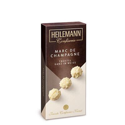 Marc de Champagne Trüffel weiß 100 g Geschenkpackung Pralinen