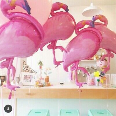 Baby Girl Shower Big Flamingo Foil Balloons Pink Blue Purple Flamingo Party - Girl Balloon