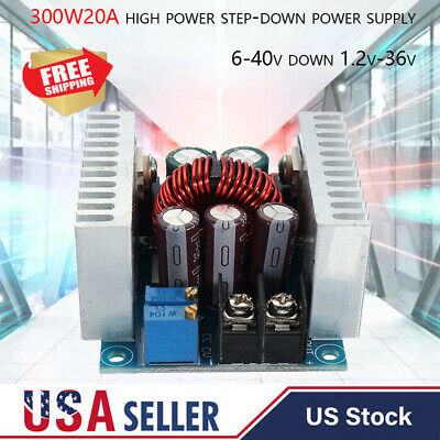 Dc-dc Converter 20a300w Step Down Buck-boost Power Adjustable Charger