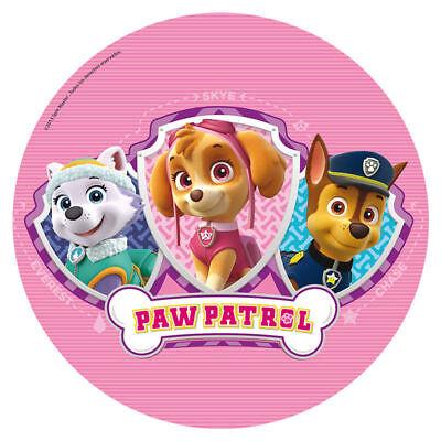 Paw Patrol Essbares Bild, Cake Topper, Waffelpapier rund 20cm / 7,87 '' ()