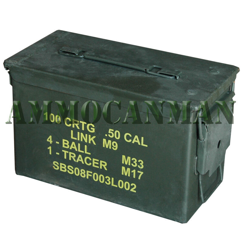 24 cans ! Grade 1 50 cal empty ammo cans 24 Total ! Excellent Cans FREE SHIPPING