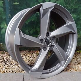 "19"" New R8 Style Alloy Wheel for 5x112 Audi A3, Golf MK5, MK6, MK7, Caddy, Jeta Etc"