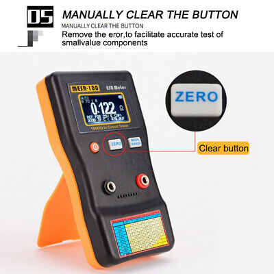 Mesr100 V2 Auto Ranging In Circuit Esr Capacitor Meter Tester 0.001-100r Clip