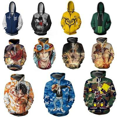 Anime One Piece Roronoa Zoro Zipper Hoodie Sweatshirt Hooded Coat Jacket Unisex Unisex One Piece