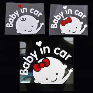Baby in Car Decal for Car Window