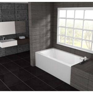 Oceania PU6030R Pure 6030 Alcove Right Drain Bathtub Comfort Air