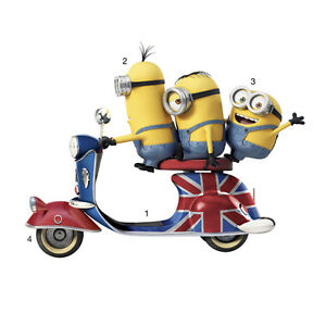 """Giant 33""""x 26""""Minions Wall Decals Sticker Kid Room Despicable Me Kitchener / Waterloo Kitchener Area image 2"""