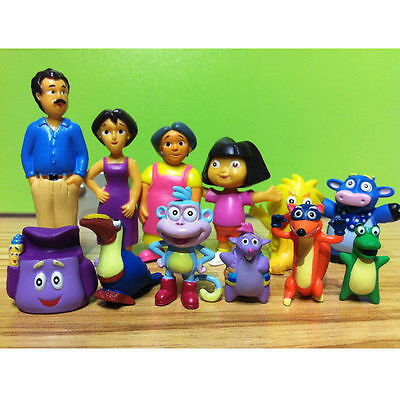 New Dora The Explorer Figure Set Toy Playset Cake Topper Figurines Of 12 Pc