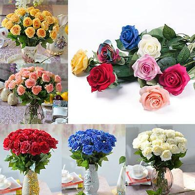 - 10/20 Head Real Latex Touch Rose Flowers For wedding & Home Design Bouquet Decor