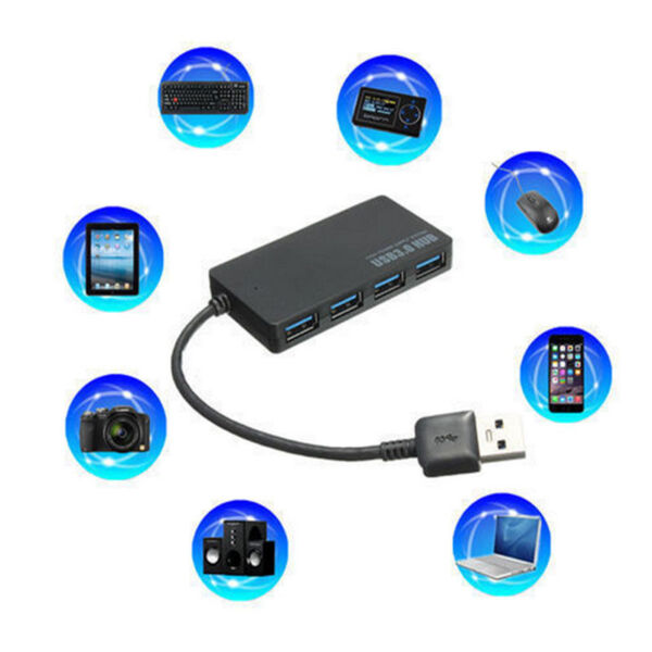 REAL AND TESTED USB 3.0 Hub 4 Port 5Gbps Portable size.