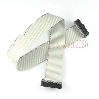 2pcs 2.54mm Pitch 2x8 16pinwire Idc Flat Ribbon Cable Jtag Avr Wire Length 30cm