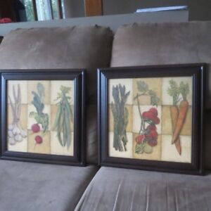 TWO PIECES OF BEAUTIFUL WALL ART BY C.WINTERLE OLSON