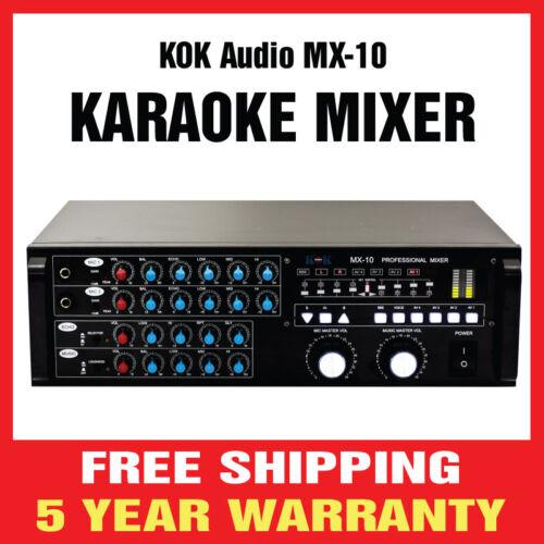 KOK Audio MX-10 PRO SOUND KARAOKE MIXER (Brand New)