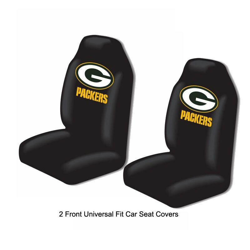 Shipping A Car/page/2 >> Details About Nfl Green Bay Packers Car Truck 2 Front Seat Covers Set Officially Licensed