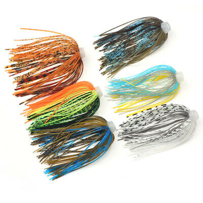 2 Each 10 Assassinator Buzz /& Spinnerbait Silicone Replacement Skirts 5 Colors