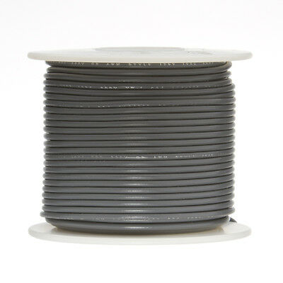 22 Awg Gauge Solid Hook Up Wire Gray 250 Ft 0.0253 Ul1007 300 Volts