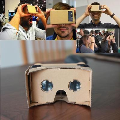 DIY Google Cardboard Virtual Reality 3D Glasses for iPhone Samsung ect Phones GY
