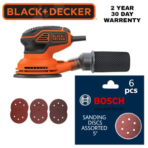 "BNIB BLACK & DECKER 5"" ORBIT SANDER & DISCS"