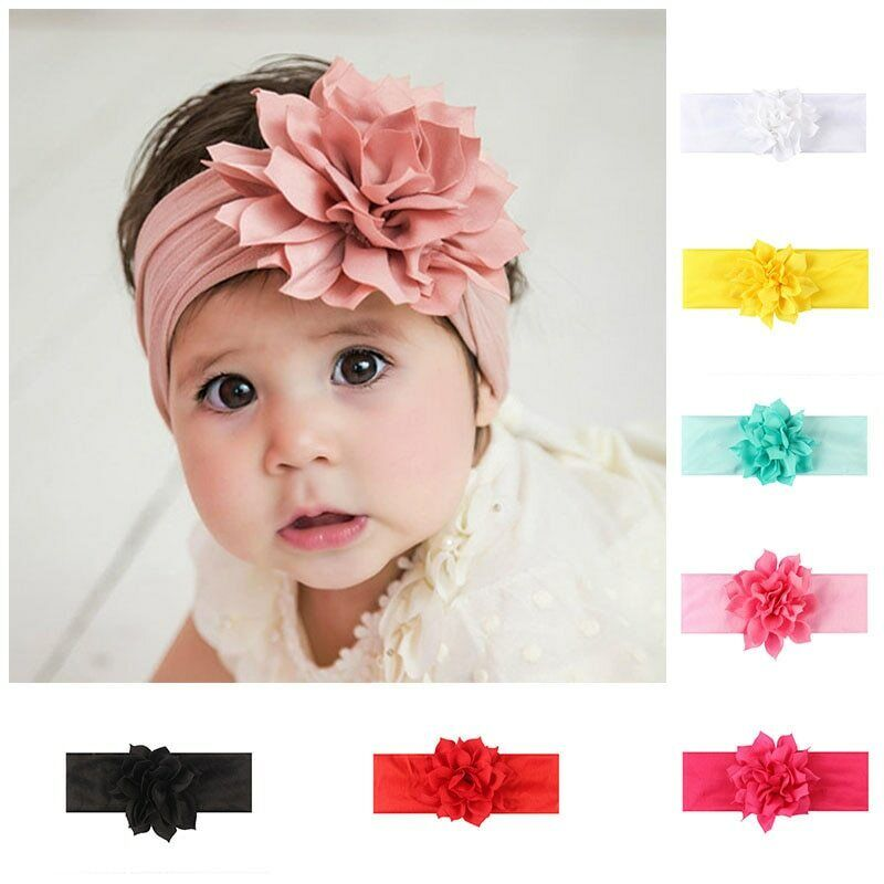 10 pcs Baby Toddler Lace Flower Headband Hair Bow Band Headwear Accessories USLY