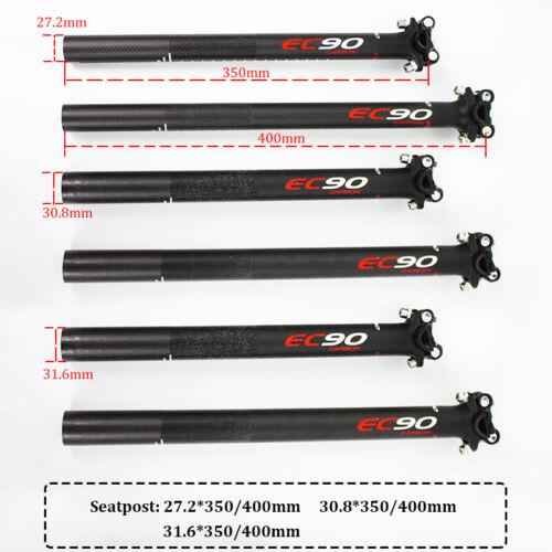 350//400 mm 31.6 EC90 T800 Carbon fiber Plain Seatpost  black 27.2 30.8