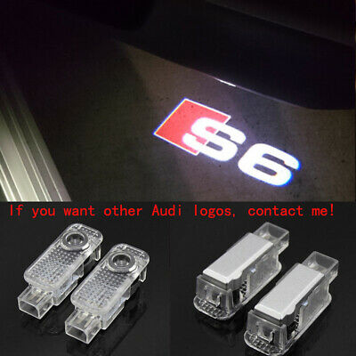 2Pcs Audi S6 LOGO GHOST LASER PROJECTOR DOOR UNDER PUDDLE LIGHTS FOR AUDI S6 -