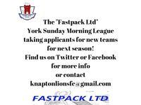 York Sunday Morning League recruiting new teams