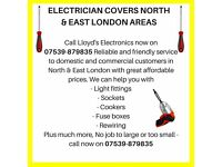 ELECTRICIAN COVERS NORTH LONDON & EAST LONDON AREAS
