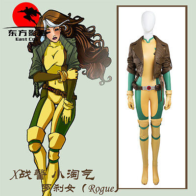 X-Men Rogue Cosplay Costume Jacket Jumpsuit Anime Custom Made - Rogue Xmen Jacket
