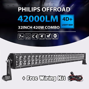 "32""inch 420W LED LIGHT BAR OFFROAD COMBO DRIVING\WORK LAMP"