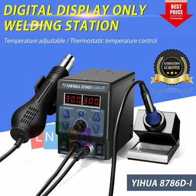 Yihua 700w 110v 8786d-i 2 In 1 Soldering Rework Station Iron Esd Welder Hot