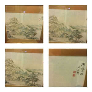 Antique WANG YUANQI Chinese Painting Signed Framed