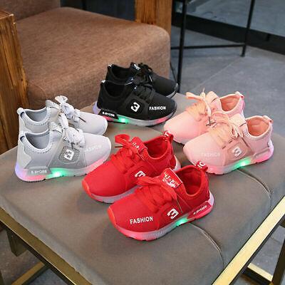 Mädchen Jungen LED Sneakers Licht Leuchtende Blinkschuhe Laufschuhe Kinderschuhe ()