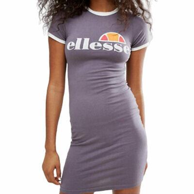ELLESSE BATENE Womens T-Shirt Dress Summer Casual Party Active wear Long Tops