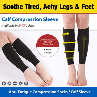 Medizinische kniehohe Waden-Kompressionshülsen-Socken blickdichte Flug